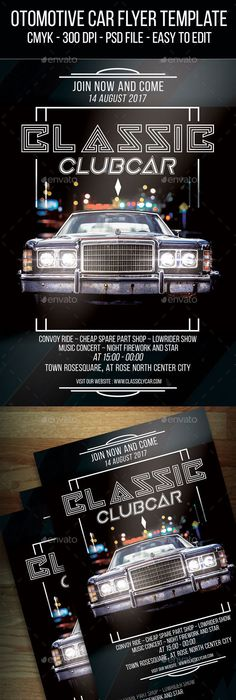 Car Show Flyer  Flyer Template Template And Business Flyer Templates
