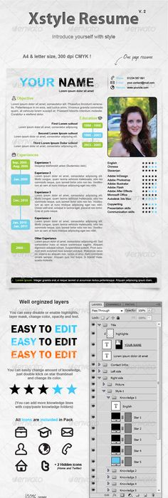 Creative Resume Template Creative resume templates, Template and