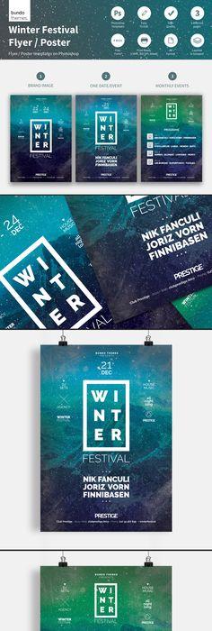 Winter Festival Flyer Poster Template Winter festival, Template