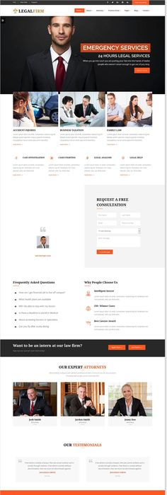 Premium #Lawyers & Business WordPress Theme #website #design | web ...