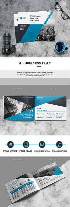 A Landscape And Portrait Brochure  Brochures Corporate Brochure