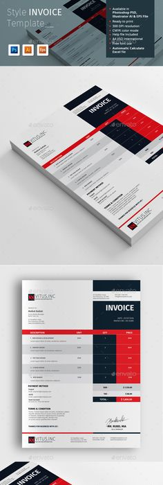 Modern Invoice Template Proposal Templates And Font Logo