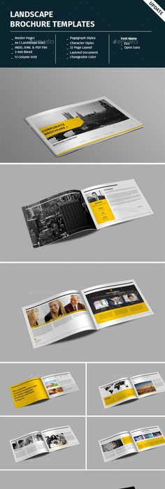 corporate a5 landscape brochure template brochure template brochures and corporate brochure