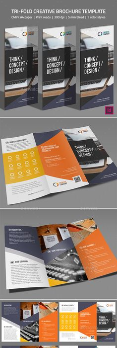 Simple Tri Fold Brochure Template  Simple Yet Beautiful
