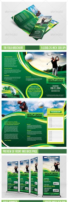 Brochure Golf  Buscar Con Google  Flyers    Golf And