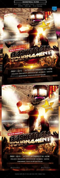 Basketball Championships Sports Flyer  Flyer Template Template