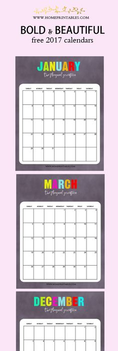Something To Love Free Printable  Calendar  Free Printable