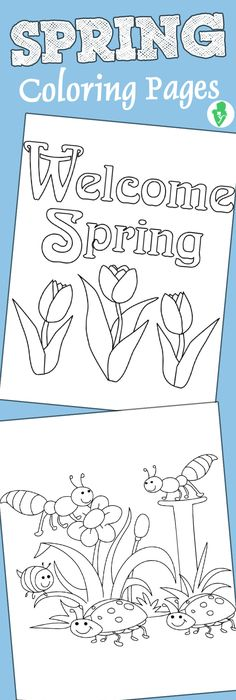 Top 35 Free Printable Spring Coloring Pages Online | Kids learning ...