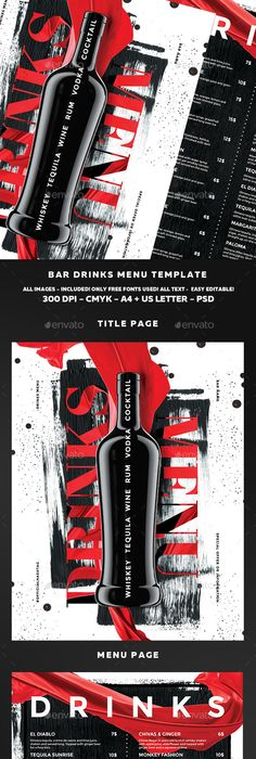 Cocktail Drinks Menu V  Menu Menu Templates And Template
