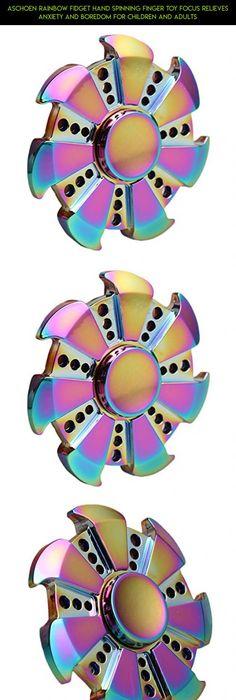 Rainbow Fid HAND SPINNER Torqbar Tri Finger Toys ADHD Autism