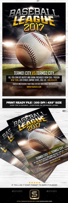 Baseball Game Flyer Template Baseball games, Flyer template and