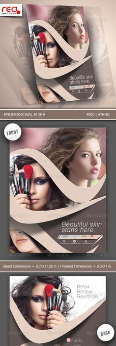 Beauty And Hair Salon  Premium Psd Flyer Template  Getemplate