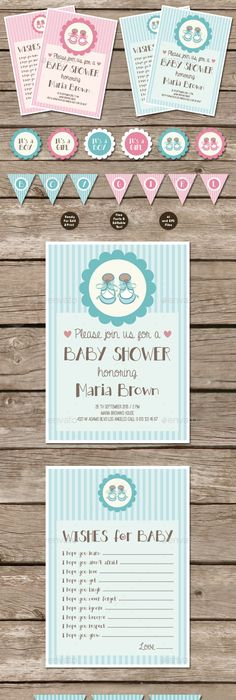 Baby Shower Invitation Card Template AI, PSD Card \ Invite Design - fresh birthday invitation video templates