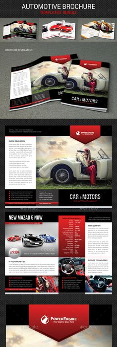 4 Automotive Car Sale Rental Brochure Bundle Brochures Brochure