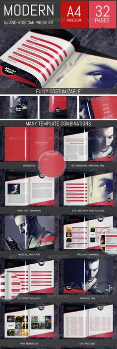 Dj And Musician Press Kit  Resume Template  Press Kits Template