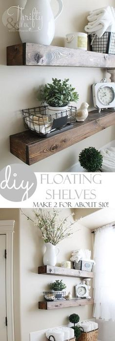 Your Farmhouse Home Decor Is Going To Absolutely LOVE These Gorgeous  Farmhouse DIY Floating Shelves Created