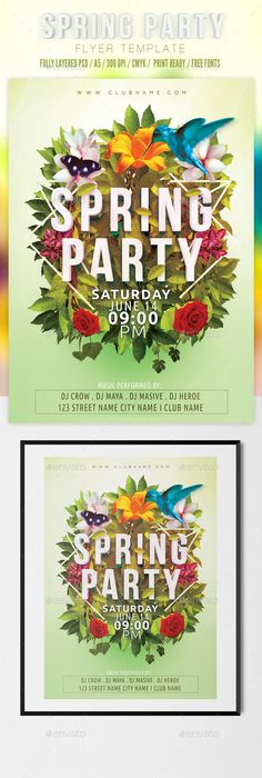 Customize This Poster Template With Your Photos And Text  Spring