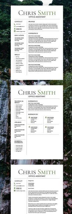 Modern Resume Template + Cover Letter - CV Template - MS Word on Mac ...