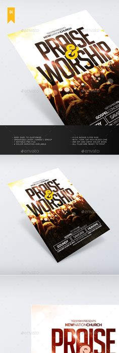 Worship Conference Flyer  Music Flyer Flyer Template And Worship