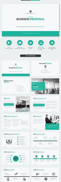 Modern Business Plan PowerPoint Template Business powerpoint - powerpoint proposal template