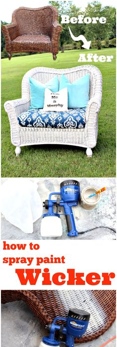How To Spray Paint Wicker With Any Color, Fast And Easy! Awesome Ideas