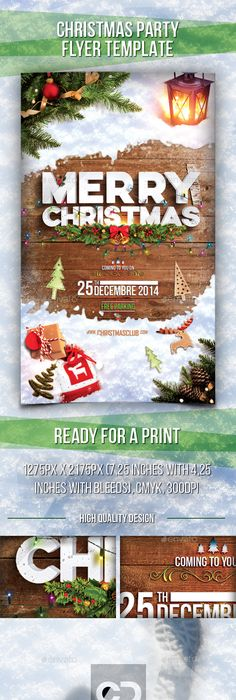 Minimal Christmas Flyer  Minimal Christmas Christmas Flyer And