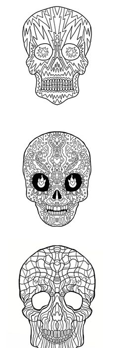 Skull Drawings Sketches wwwdeviantart Skull drawings - fresh day of the dead mandala coloring pages
