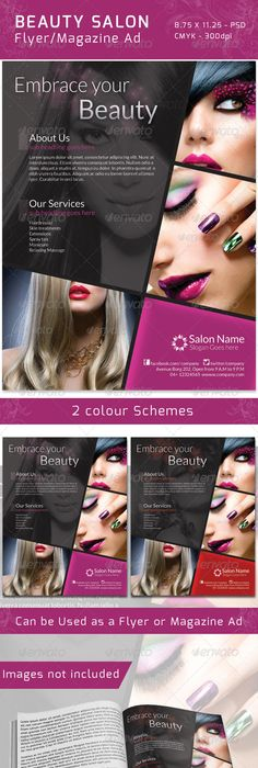 Salon Brochure  Hairstyles    Brochures