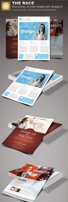 Leading Strong Political Flyer Template Bundle  Flyer Template