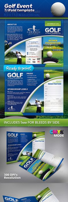 Golf Event Flyer Template Psd  Buy And Download Http