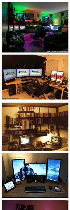nobby design ideas folding computer table. Image via Computer Desk Ideas image This would look good on the  east wall for kids to do homework at side by Industrial desk 47 Epic Video Game Room Decoration 2018 game