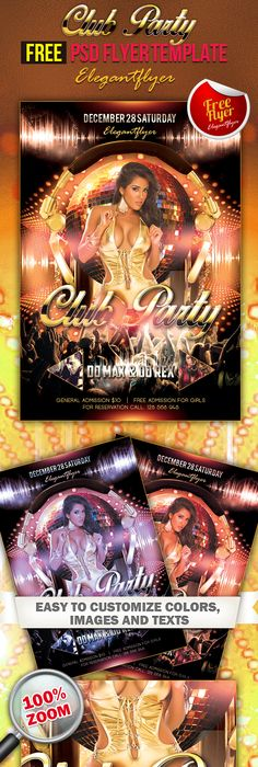 Birthday Party Flyer White Flash Flyer Club Ss Design
