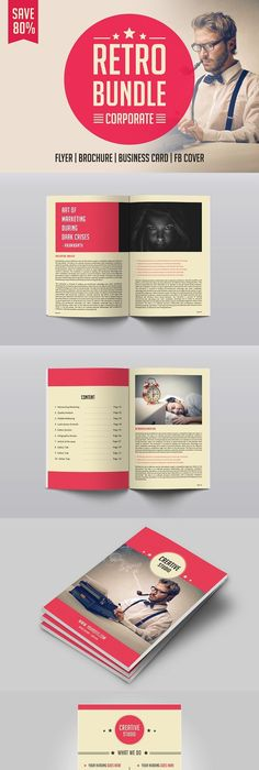 Retro Brochure Template Retro Flyerposter Template Retro Inversion