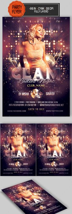 Sensation Party Flyer Template Party Flyer Flyer Template And