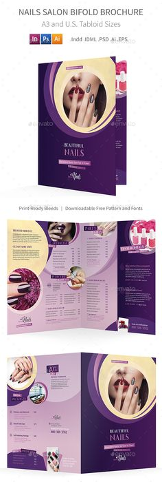 Nail Beauty Salon Tri Fold Brochure Template HttpWwwDlayouts