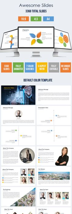 Brezza Multipurpose Powerpoint Template Template Business - Awesome logo presentation template scheme