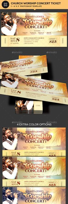 Gospel Concert Ticket Template  Concert Ticket Template Ticket