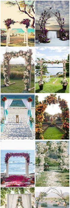 25 Wedding Arches Decoration Ideas