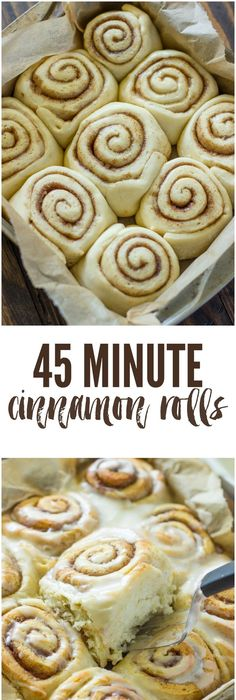 Fluffy and soft cinnamon rolls taste even better than Cinnabon and are  ready in just 45