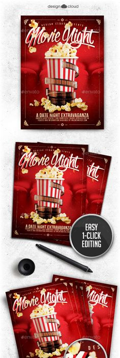 MovieNightFlyerPsdFree  Fhcaca Work    Flyer