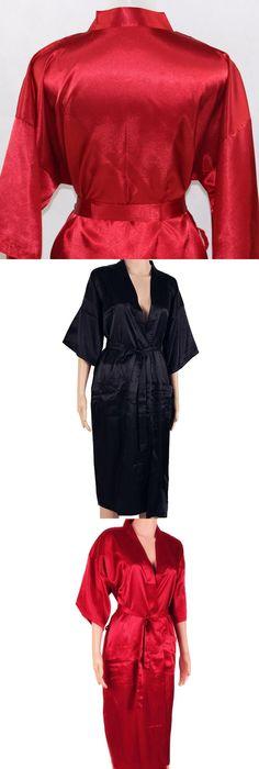 Navy Blue Men Sexy Silk Rayon Kimono Bathrobe Gown Chinese Style Male Robe  Nightgown Sleepwear Plus 40ebf8825