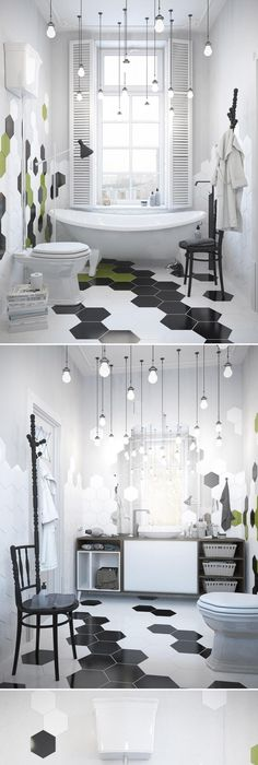 Scandinavian Apartment   Галерея 3ddd.ru · Geometrische FliesenSkandinavisch  WohnungDesigner BadezimmerBadezimmer