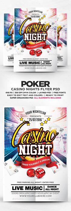 Casino Flyer Template Flyer Template Template And Font Logo