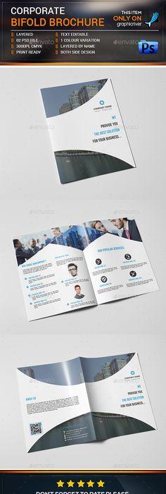 Creative Corporate Trifold Brochure Template   Brochure