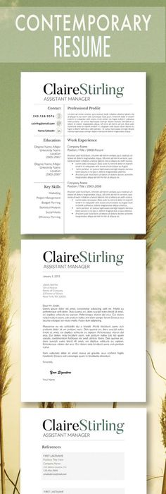 Word Resume  Cover Letter Template Cover letter template, Resume - example cover letter resume