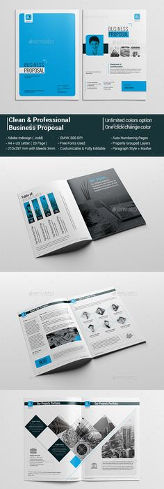 Business Proposal Indesign Template Business proposal, Indesign - template