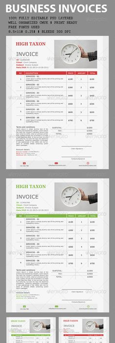Delivery Invoice Template Template, Indesign templates and