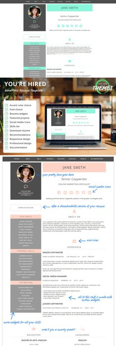 Wordpress Resume Theme Mango  Portfolio Wp Themewordpress Portfolio Themes$49.00 .