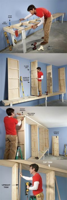 Small workshop storage solutions workshop storage storage and giant diy garage cabinet solutioingenieria Image collections