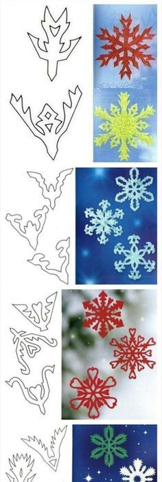 Snowflake Template To Cut Out   Pinteres